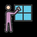 7858 - Man Cleaning Window